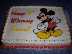 Mickey Mouse on Cake Central