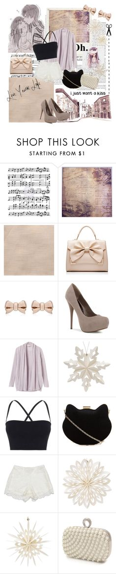"""""""Told Me Not to Cry When You Were Gone"""" by vnghe ❤ liked on Polyvore featuring Music Notes, Polaroid, Forever New, Thomas Sabo, Brooks, Zara, Rebecca Taylor, Cultural Intrigue, Theory and New Look"""