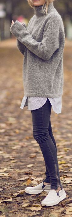 Combining skinny jeans: Fashion professionals style the tube now! - I like clothes - Modes Mode Outfits, Casual Outfits, Fashion Outfits, Jeans Fashion, Fashion Clothes, Fashion Trends, Fall Winter Outfits, Autumn Winter Fashion, Fashion Spring