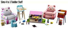 Around the Sims 3 | Custom Content Downloads| Objects | Kids | Sims 4 to 3 Toddler stuff