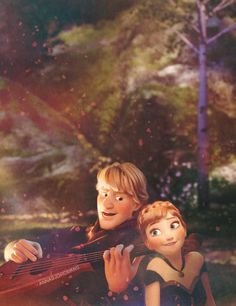 Kristoff and Anna... Is it weird that I'm jealous of a cartoon princesses hair?