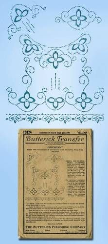 1920s Arts Crafts Beading Clothes Trimming Transfer Original Butterick Design | eBay