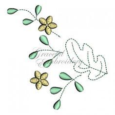 Download freebie machine embroidery design Graceful Oak Leaves Freebie
