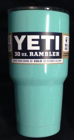 YETI Rambler Tumbler TIFFANY BLUE AQUA 30oz Stainless Steel Mug Free Shipping #Yeti