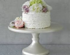 Wedding Cake Stand Cupcake Pedestal Ivory Pearl Vintage Rustic Decor By E Featured In Martha Weddings