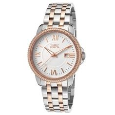 Invicta Watches Men's Specialty Two-Tone Steel White Dial Cool Watches, Watches For Men, Michael Kors Watch, Gold Watch, Bracelet Watch, Bracelet Charms, Steel, Bracelets, Accessories