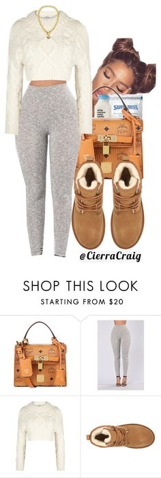 """Comfy Christmas Gear"" by cierracraig ❤ liked on Polyvore featuring MCM, DKNY, UGG and Juicy Couture"