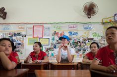 """1 June 2016 - Goodwill Ambassador Katy Perry visits a daycare centre for children with disabilities in Viet Nam. """"All the children I met have incredible dreams. We have to help them fight for those dreams,"""" she said. """"Investing in the most disadvantaged to give them a fair chance in life is not only the right thing to do, it is the best way to break the cycle of poverty and drastically improve children's health, education and well-being. © UNICEF/UN020123/Quan"""