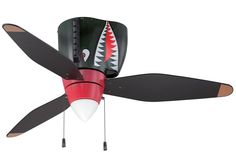 Buy the Craftmade Tiger Shark Direct. Shop for the Craftmade Tiger Shark Tiger Shark 3 Blade Ceiling Fan - Blades and Light Kit Included and save. Airplane Ceiling Fan, Airplane Decor, Airplane Bedroom, Black Ceiling Fan, 3 Blade Ceiling Fan, Garage Ceiling Fan, House Ceiling, Flush Mount Ceiling Fan, Ceiling Fan With Remote