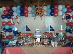 1000 images about balloon nautical decor on pinterest for Anchor balloon decoration