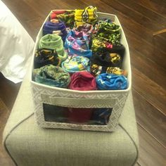 Need a great place to store your leggings and other stock, use a Your Way Bin. Put a lid on top to keep the dust and dirt out.