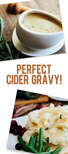 Perfect cider gravy pinterest image
