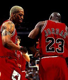 Dennis Rodman & Michael Jordan NOW THIS IS BASKETBALL!! No one better.