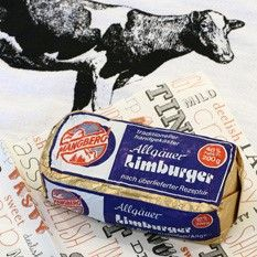 Mangberg Limburger is made from 100% cow's milk and bacteria cultures, nothing else. Produced in the Allgau region of Germany's Swabia, it is available with 40% fat in dry matter, making for a luxurious and creamy flavor. Pungent and creamy, this cheese is a must-try for lovers of real Limburger. Produced by the Kaserei Stich, this spicy-tasting Limburger browns nicely under the broiler with brown bread, or slice it thin and top with onions, oil, and vinegar.