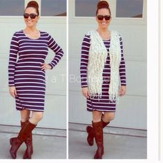 Striped bodycon side zipper dress DO NOT buy this listing, comment below to make sure I have your size available and I will make you a personal listing  Super cute striped bodycon dress with zipper detail. Looks great with boots or heels. Available in size S(2-4) M(6-8) L(10-12).  TK1275210 2 a T Boutique  Dresses
