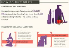 How companies create cruelty-free products. #BeCrueltyFree #infographic