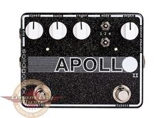 This is a brand new Solid Gold FX Apollo II analog phaser with tap tempo. This unit combines an all-analog 4-stage phaser circuit with their exclusive tap tempo microprocessor. The Apollo II has some excellent features to expand on the first edition of the Apollo. An 11-position detent control en...