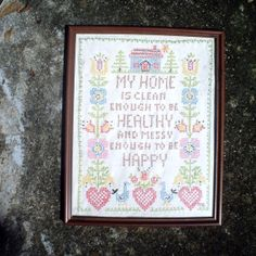 Vintage Handmade Home and Heart Needlecraft by TheRiCharmedLife, $15.00