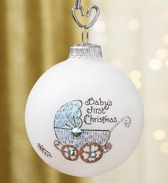 Baby's First Christmas Ornament #babysfirstchristmas #newbaby