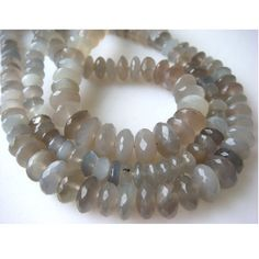 Grey Moonstone Faceted Rondelles  8mm To 5mm  8 by gemsforjewels, $30.10
