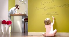 Turn ANY color wall into a dry erase surface with this EXCLUSIVE transparent paint.
