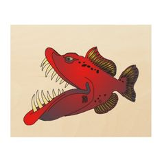 """""""Uncle Steevo"""" Fish with Attitude Wood Wall Art"""