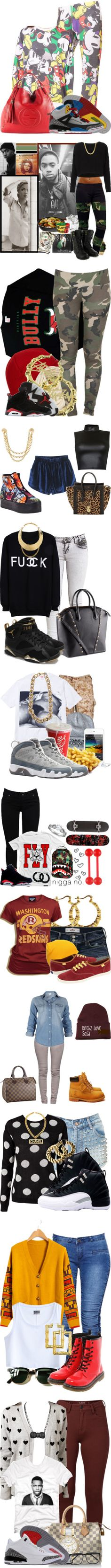 """Trill Lady."" by mrkr-lawson ❤ liked on Polyvore"