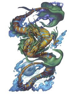 Dragon At by Sixthleafclover-Pisces-Tattoo commission