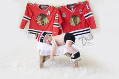 CHICAGO BLACKHAWKS Hockey Helmet Hat, Diaper Cover and Skates with Player's Number and Feathers in NHL Colors Black Red and White on Etsy, $49.00