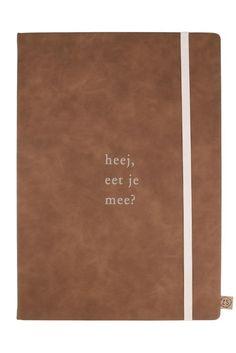 ZUSSS.NL | Receptenboek cognackleurig | Bewaar je favo recepten