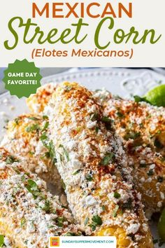 Mexican street corn, or Elotes Mexicanos, is a traditional Mexican food that's quick to make and addictive! The corn and Mexican crema are rich and sweet, the spices give it a kick, and the cotija cheese is salty and crumbly. Easy and delicious, this elote recipe is a must try for the summer! #SundaySupper #elote #elotes #mexicanstreetcorn #mexicancorn #eloterecipe #cornonthecob #streetcorn #cornrecipe #bbqrecipe #bbqsides #sidedish #sidedishrecipe Corn Recipes, Side Dish Recipes, Vegetable Recipes, Easy Recipes, Side Dishes For Bbq, Best Side Dishes, Mexican Dishes, Mexican Food Recipes, Mexican Crema