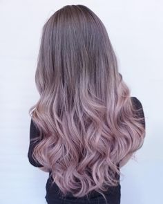 Beautiful Long Dyed Light Pink Hairstyle
