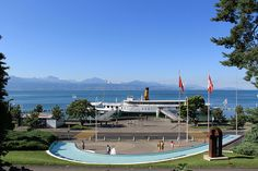 View from the Olympic Museum in Lausanne