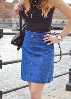 Anna's 70s inspired Delphine skirt - pattern from Love at First Stitch