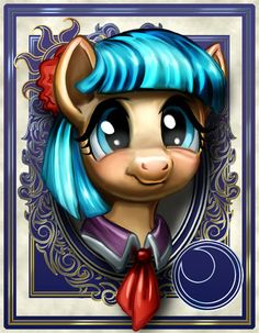 """Another of my """"lost"""" portraits was Minuette here. Personally, I loved her canon appearance as more than a background pony, and I really hope that she's given more appearances as one of Twilig..."""