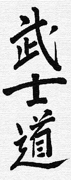 Bushido - 義(Justice)、勇(Bravery)、仁(Compassion)、真(Honesty)、礼(Respect)、名誉(Honor)、忠義(Loyalty)  by Dong Wang