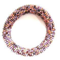 Gypsy Soule Lilac, Blue & Peach Stretch Beaded Bracelet DB512D