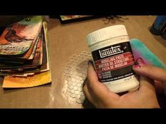 Mixed Media Tags - Tutorial using Gelatos and Stamper's Big Brush pens - YouTube