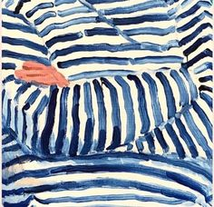 "Quote of the day 💭 - ""I just do art because I'm ugly and there's nothing else for me to do."" ― Andy Warhol - Stripes by David Hockney Art And Illustration, Gravure Illustration, David Hockney Art, David Hockney Paintings, Guache, Arte Popular, Art Inspo, Painting & Drawing, Gouache Painting"