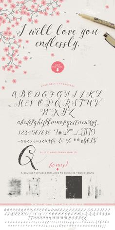 Pillowbook typeface + Extras! by Lisa Glanz on @creativemarket