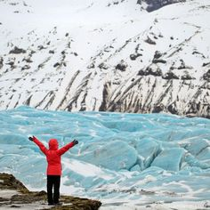 Svinafellsjokull Blue Glacier (Iceland Winter Road Trip - Best Stops and Places to Avoid) // Local Adventurer Winter Road, Winter Travel, Thingvellir National Park, Iceland Waterfalls, See The Northern Lights, Iceland Travel, Kayaking, Adventurer, Travel Photography