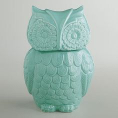 Aqua Owl Cookie Jar via Cost Plus World Market >> #WorldMarket Holiday Gift Giving Ideas