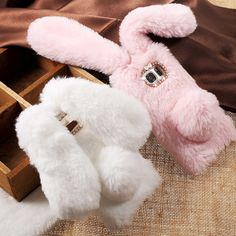 For Samsung S7 G930 Case Warm Fluffy Fur Soft TPU Fashion Rabbit Bunny Cover for Galaxy S 7 Cute Mobile Cell Phone Shell