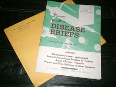 1959 ADVERTISING MAILING DR SALSBURY'S POULTRY DISEASE BRIEFS BOOKLET #DRSALSBURY