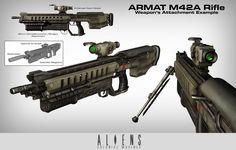 ArtStation - Aliens: Colonial Marines Weapon Concepts, Manuel Gomez