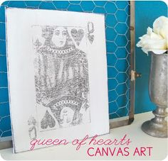 My Sister's Suitcase: Valentine's Day Art {Queen of Hearts Canvas}