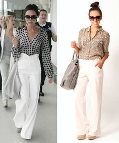Pair a chiffon button up top with linen pants for a chic and effortless look!