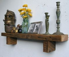 Rustic Wood Shelf - lumber from an 1860/70's Gold Mine Camp in the Eastern Sierras. $92.71, via Etsy.