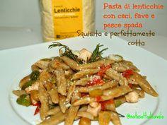 natosottoilcavolo: Pasta con farina di lenticchie, ceci, fave e pesce...
