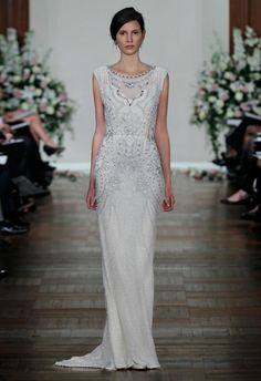 The dress I WISH Lady Mary in Downton Abbey had worn for her wedding. Bridal SS13 Catwalk - Jenny Packham